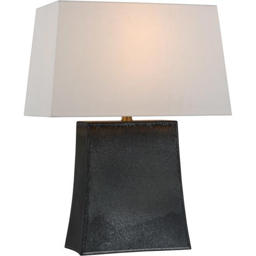 Visual Comfort - Chapman & Myers Lucera 26 inch 15.00 watt Stained Black Metallic Table Lamp Portable Light, Medium