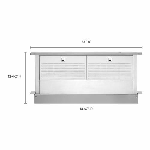 """KitchenAid - 36"""" Retractable Downdraft System with Interior Blower Motor - Stainless Steel"""