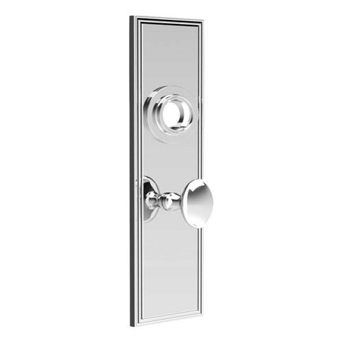 """Polished Nickel Backplate with bathroom thumb turn, 2 1/4"""" centres"""