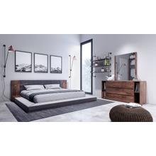 See Details - Nova Domus Jagger Modern Dark Grey & Walnut Bedroom Set