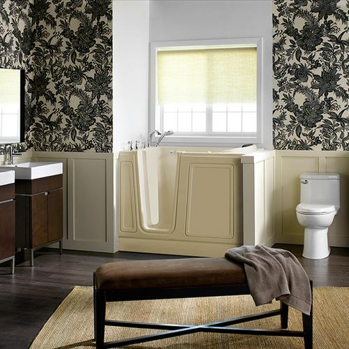 Acrylic Luxury Series 30x51 Walk-in Tub with Whirlpool System Left Drain  American Standard - Linen