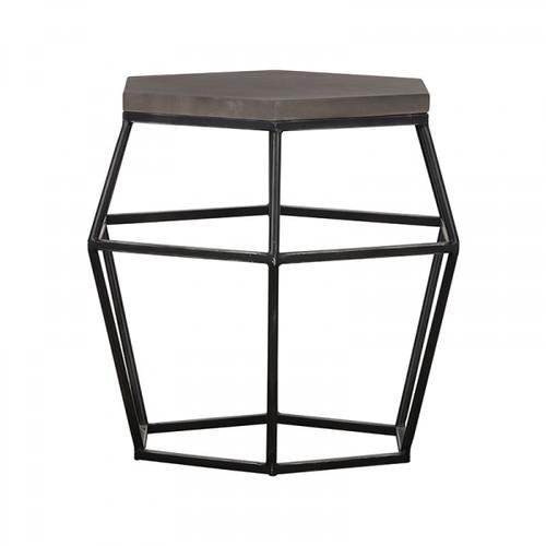 VIG Furniture - Modrest Tartan Modern Concrete & Metal End Table