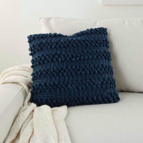 "Life Styles Dc827 Navy 17"" X 17"" Throw Pillow"