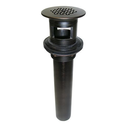 Lavatory Grid Drain with Overflow - Oil Rubbed Bronze