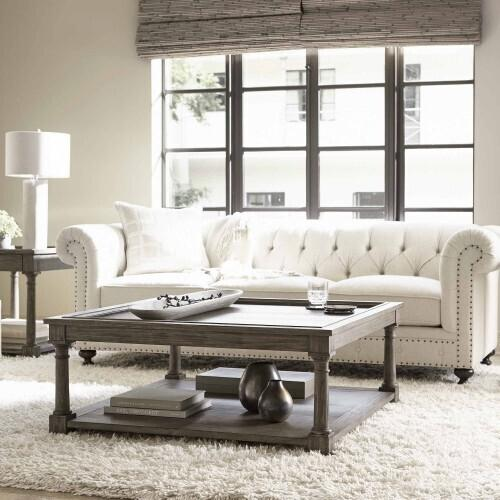 Bernhardt - Canyon Ridge Square Cocktail Table in Desert Taupe (397)