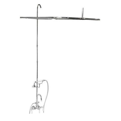 "Tub/Shower Converto Unit - 48"" Rod for Acrylic Tub - Polished Chrome"