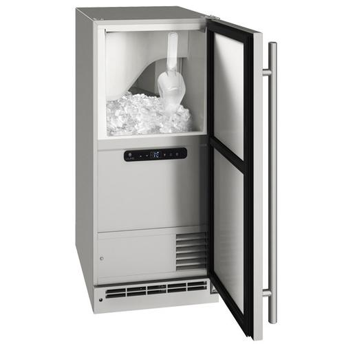 """U-Line - Ocl115 / Ocp115 15"""" Clear Ice Machine With Stainless Solid Finish, Yes (115 V/60 Hz Volts /60 Hz Hz)"""