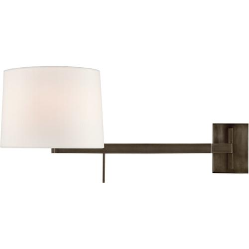 Barbara Barry Sweep 1 Light 12 inch Bronze Articulating Wall Sconce Wall Light, Medium Right