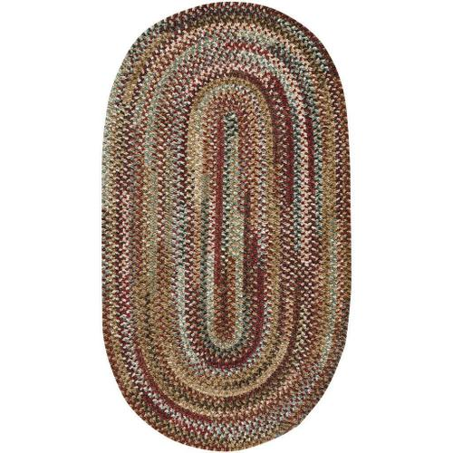 Capel Rugs - New Homestead Sundried Red - Oval - 8' x 11'