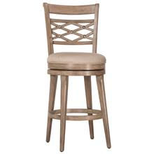 Chesney Swivel Counter Height Stool, Weathered Gray