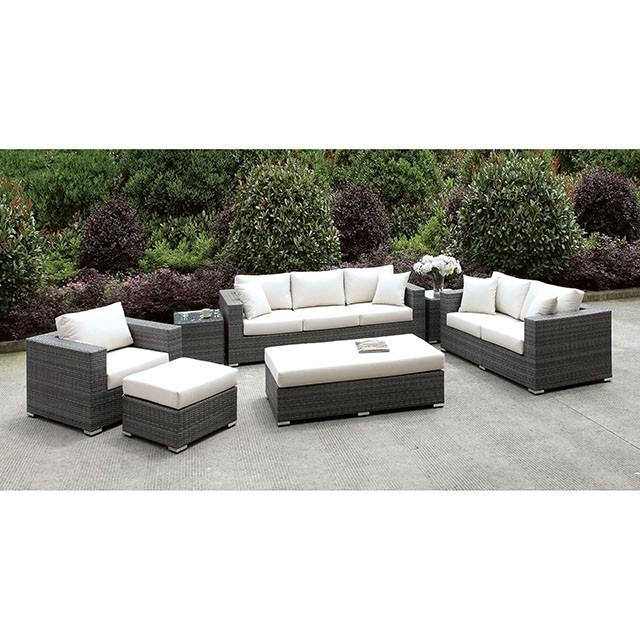 Somani 3 PC SET + 2 End TableS + Ottoman + BENCH