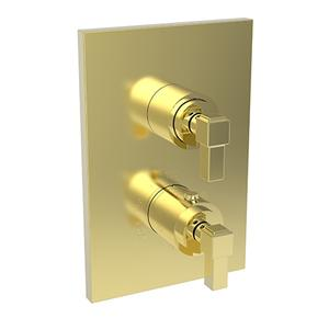 """Forever Brass - PVD 1/2"""" Square Thermostatic Trim Plate with Handle Product Image"""