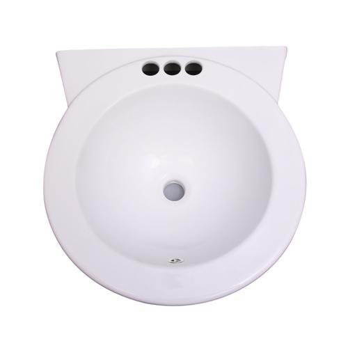 "Levine Wall-Hung Basin - 4"" Centerset"