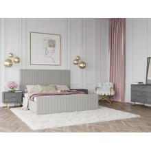 View Product - Modrest Beverly - Modern Grey Velvet Bed
