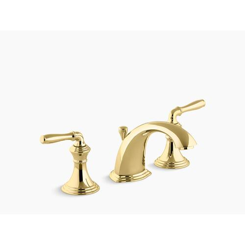 Vibrant Polished Brass Widespread Bathroom Sink Faucet