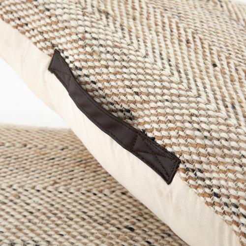 Neema Pouf-heathered Wool-nat, Blk