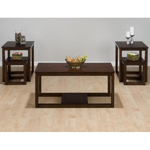 Nesting Cocktail Table - Packed W/ 2 End Tables and Two Nesting Tables In One Carton. Nesting Tables Fit Under End Tables as Well.