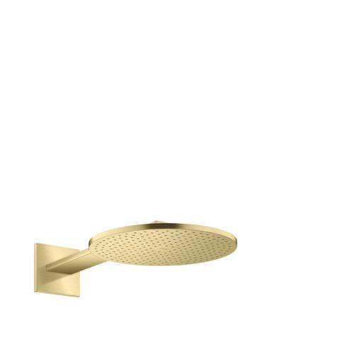 Brushed Brass Overhead shower 300 1jet with shower arm