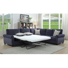 Cornell Navy Blue Sleeper Sectional