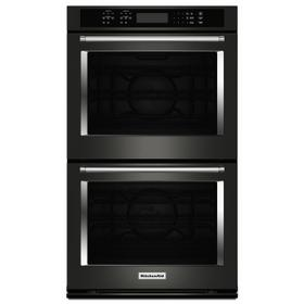 """30"""" Double Wall Oven with Even-Heat™ True Convection - Black Stainless Steel with PrintShield™ Finish"""