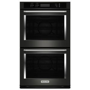 """30"""" Double Wall Oven with Even-Heat™ True Convection - Black Stainless Steel with PrintShield™ Finish Product Image"""