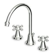 "3 hole basin mixer fixed spout with aerator, 1 1/4"" pop-up waste, flexible tails."
