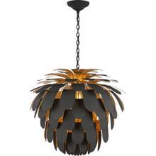 View Product - E. F. Chapman Cynara 6 Light 37 inch Matte Black and Gild Chandelier Ceiling Light, Grande