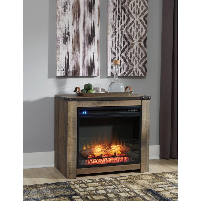 View Product - Trinell Brown Fireplace Mantel