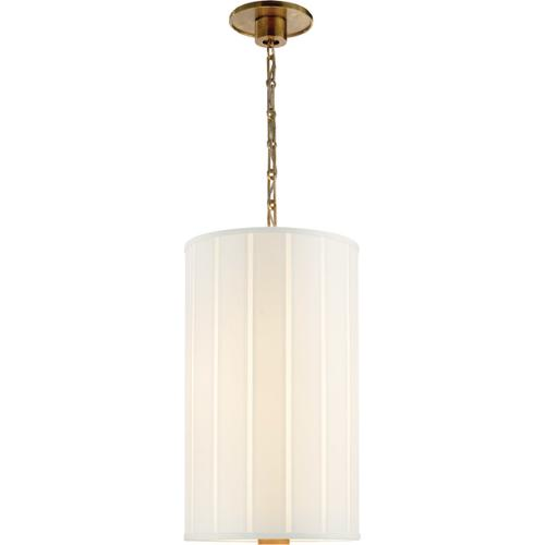 Visual Comfort - Barbara Barry Perfect Pleat 2 Light 13 inch Soft Brass Hanging Shade Ceiling Light
