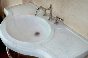 Renaissance Console Top Luna Bianca Oro Marble Product Image
