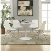 Lowry Contemporary White Dining Chair Product Image