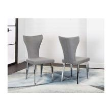 See Details - Asher-chrm/gray Fabric Chr 2pk