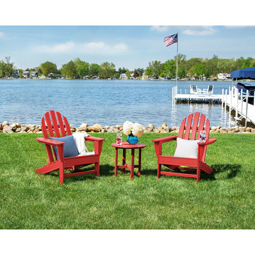 Crimson Red Classic Adirondack Chair