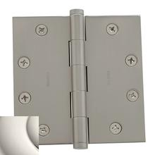Polished Nickel Square Corner Hinge
