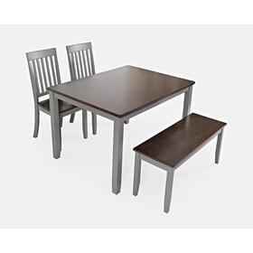 See Details - Decatur Lane Table & 2 Chairs & Bench Autumn Brown/grey