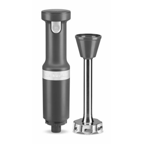 KitchenAid - Cordless Variable Speed Hand Blender with Chopper and Whisk Attachment - Matte Charcoal Grey