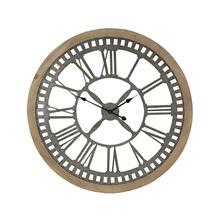 "MTL WD WALL CLOCK 36""D"