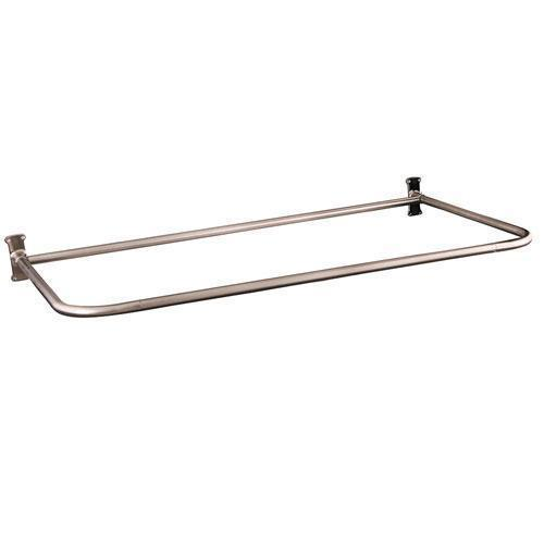 "26"" ""D"" Shower Rod - 60"" x 26"" / Polished Nickel"