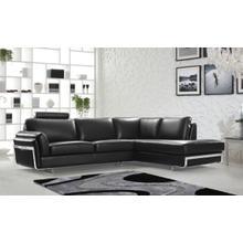 Divani Casa 0815 Modern Black Leather Sectional Sofa