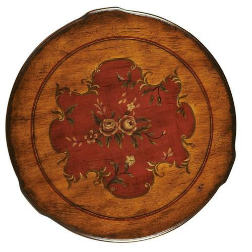 Butler Specialty Company - Unique hand painted floral design on selected hardwoods, wood products and resin components. Working door with antique brass finished knob.