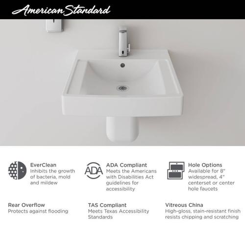 American Standard - Decorum 20-1/4-in. x 21-in. Commercial Bathroom Sink with Center Hole  American Standard - White