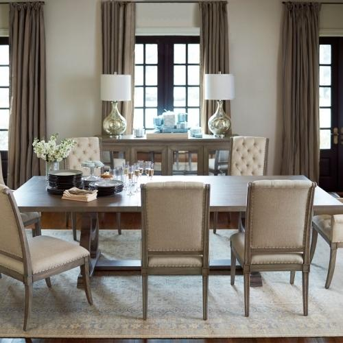 Bernhardt - Marquesa Dining Table in Gray Cashmere (359)