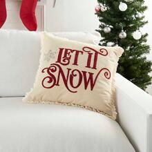 """Holiday Pillows Cr690 Red 18"""" X 18"""" Throw Pillow"""