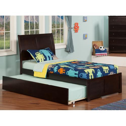 Atlantic Furniture - Portland Twin Flat Panel Foot Board with Urban Trundle Espresso
