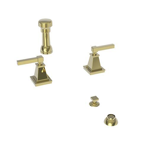 Newport Brass - Uncoated Polished Brass - Living Bidet Set