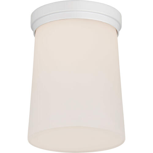 Barbara Barry Halo LED 5 inch Matte White Solitaire Flush Mount Ceiling Light, Tall
