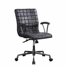 ACME Barack Executive Office Chair - 92557 - Vintage Black Top Grain Leather & Aluminum