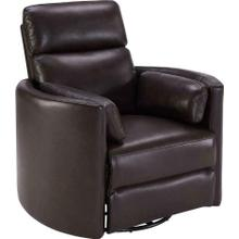 See Details - Power Leather Cordless Swivel Glider Recliner