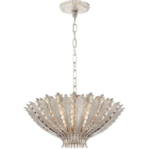AERIN Hampton 3 Light 20 inch Burnished Silver Leaf Chandelier Ceiling Light, Medium