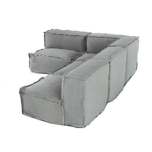Gallery - Divani Casa Navstar - Contemporary Modular Grey Fabric Sectional Sofa